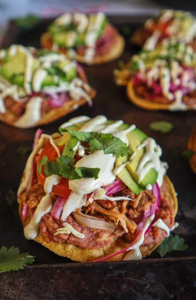 mexican vegan tostadas