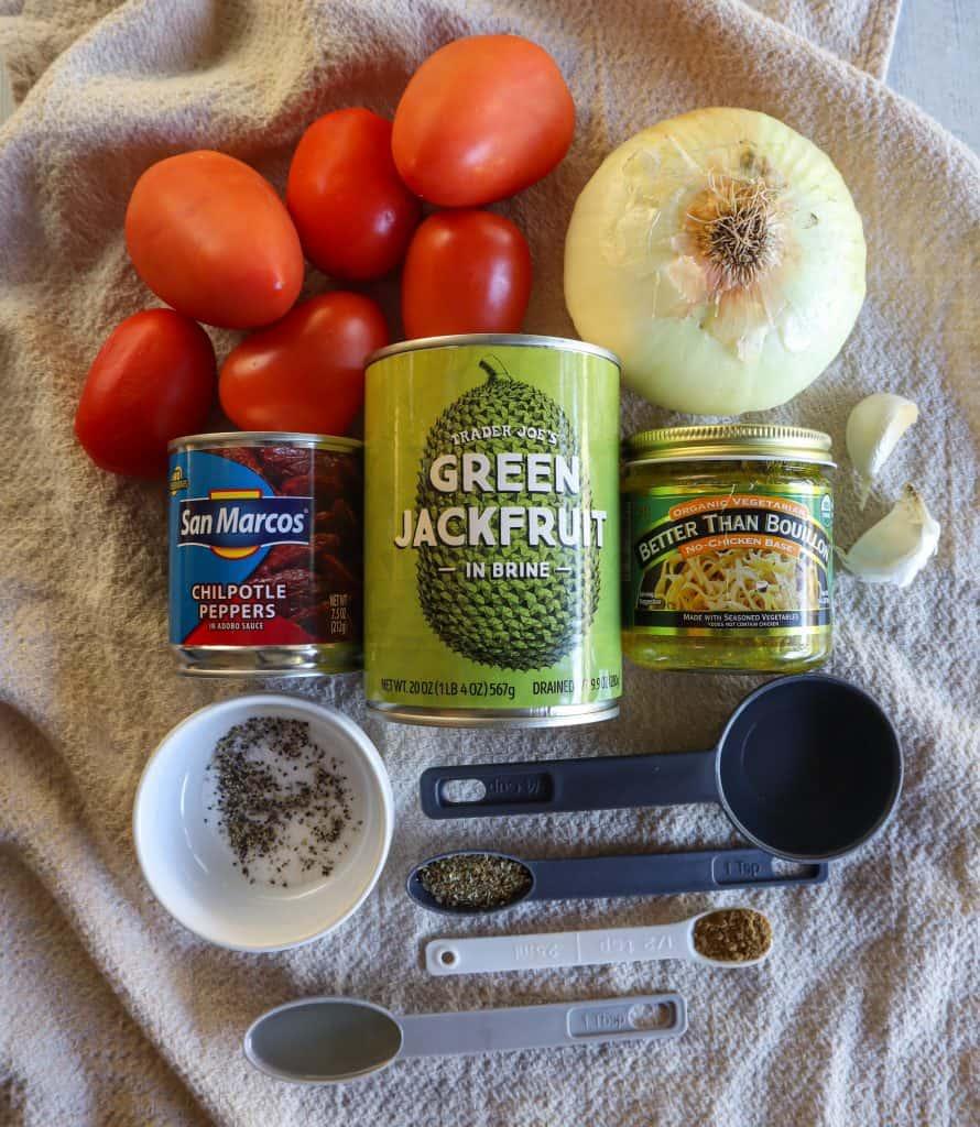 ingredientes veganos de tinga