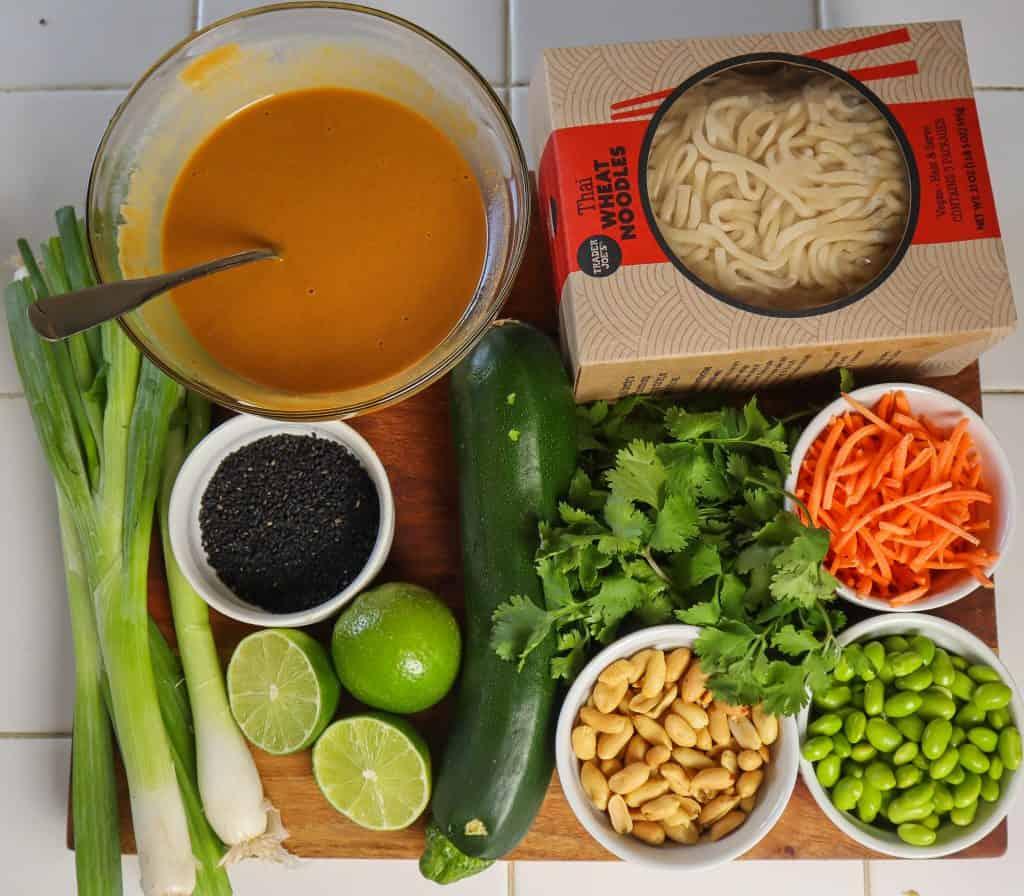 Peanut noodle ingredients