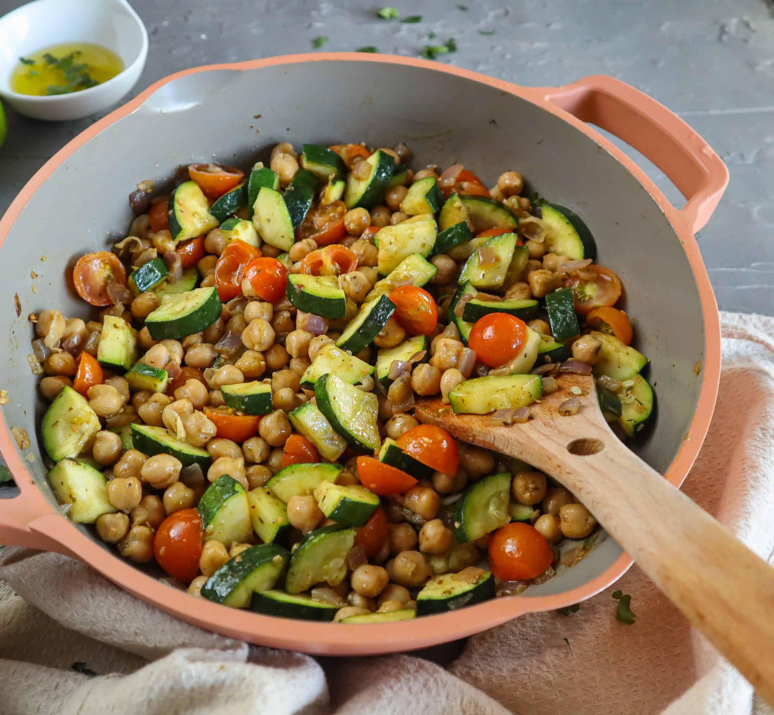 vegan chickpea salad greek