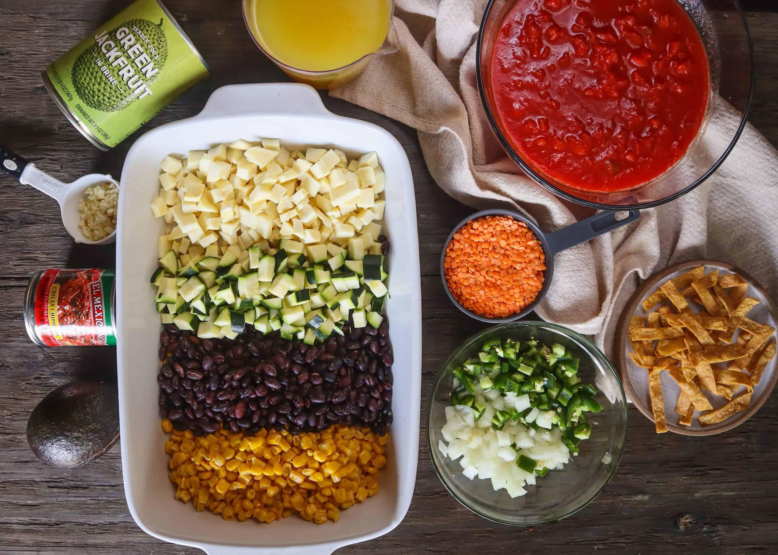 vegan tortilla soup ingredients