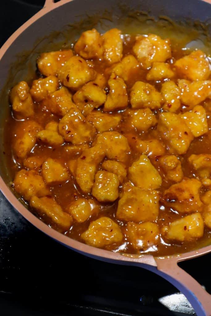 salsa de tofu de naranja