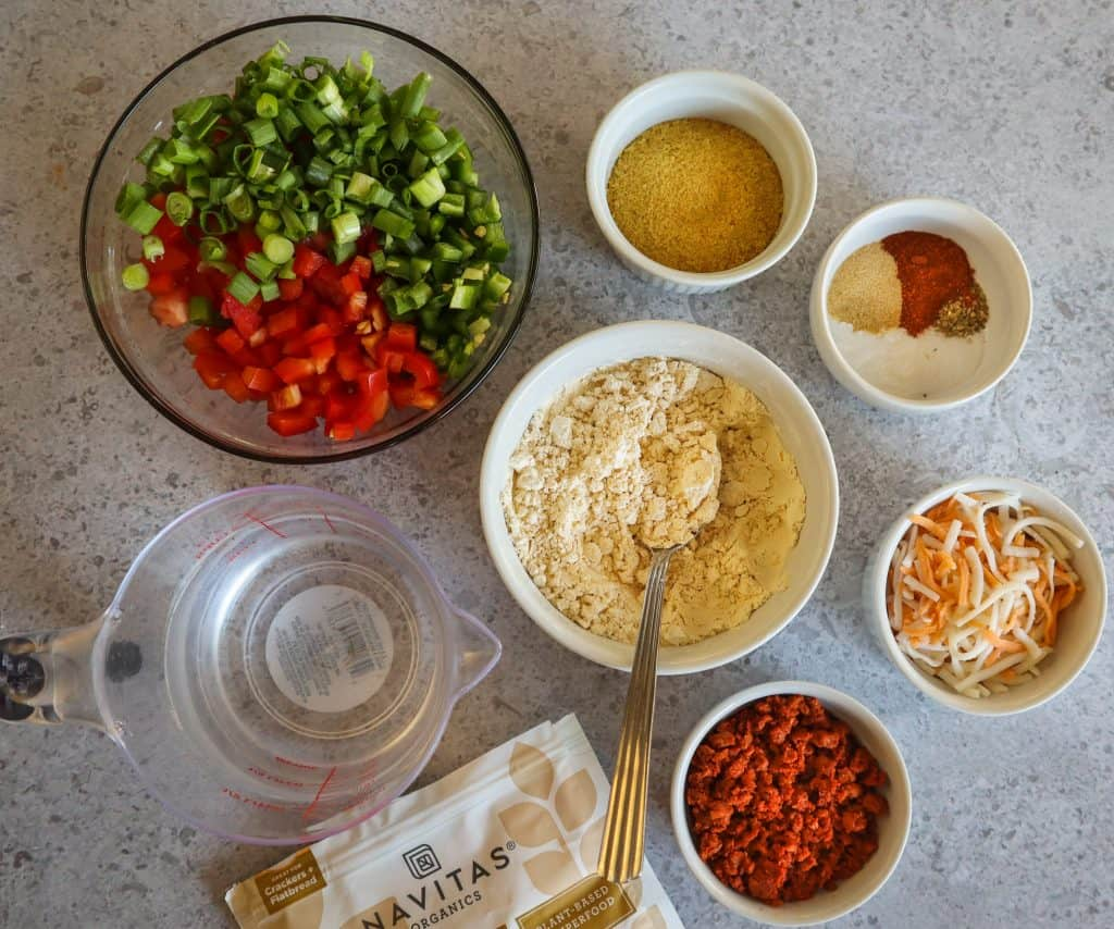 ingredients for chickpea muffins