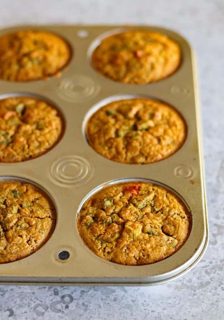 Chickpea flour frittata muffins
