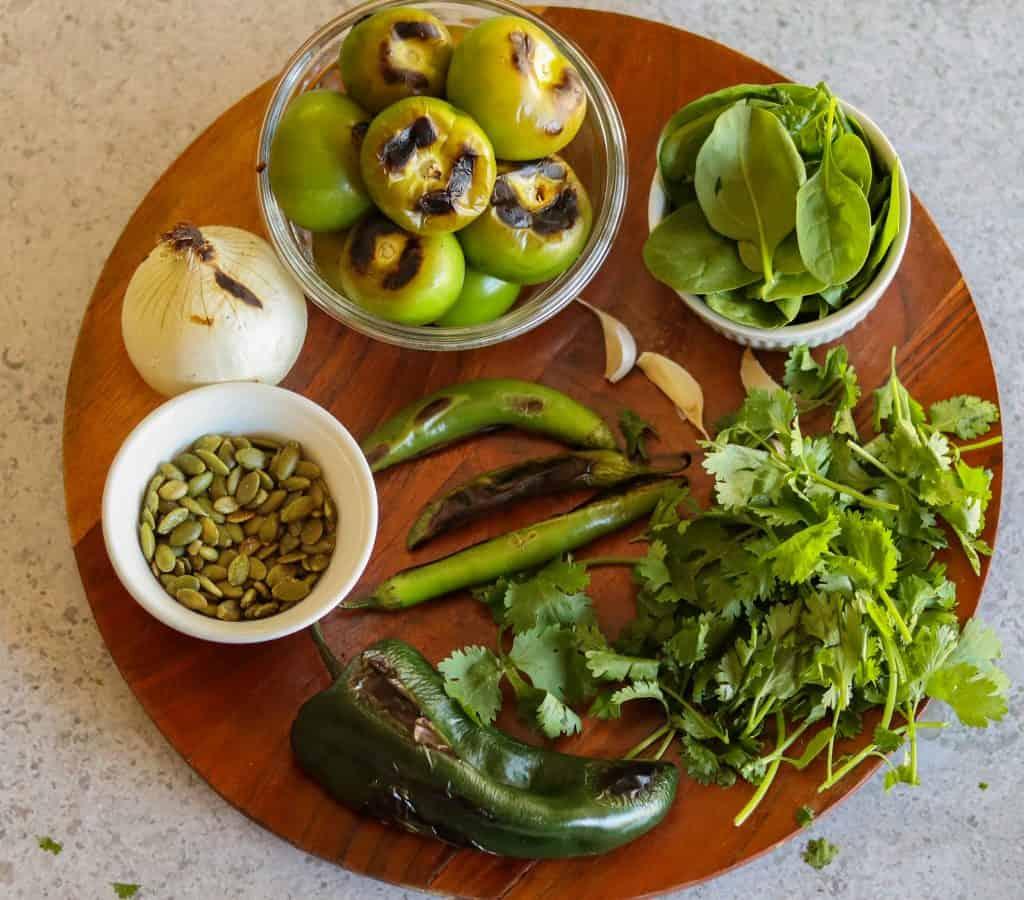 vegan pozole verde ingredients