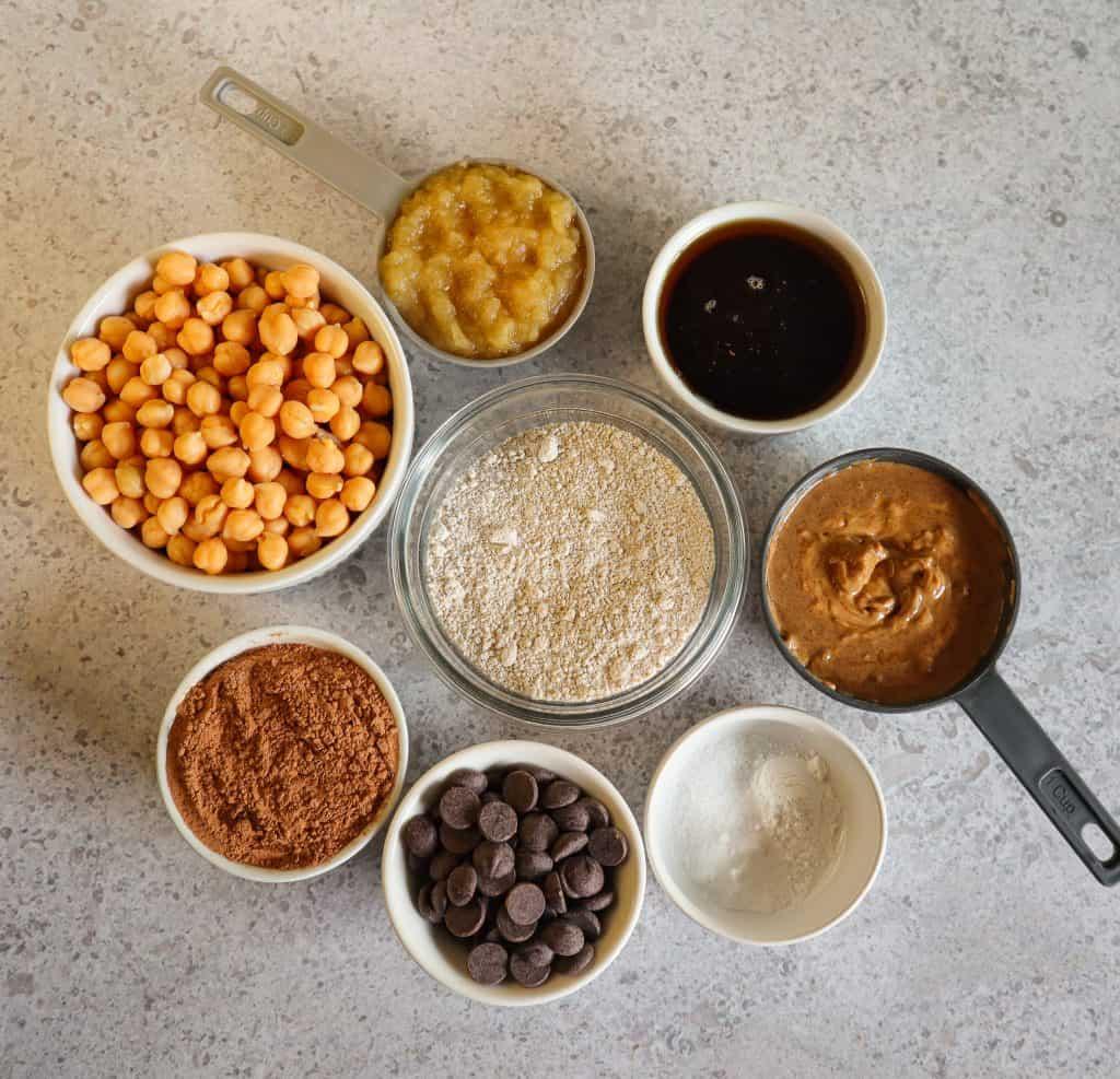 chickpea brownies ingredients
